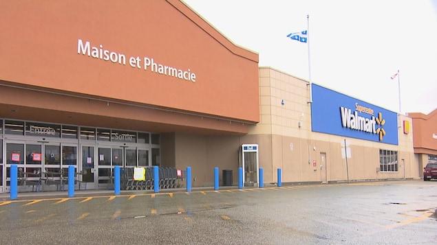 Le Walmart du plateau Saint-Joseph, à Sherbrooke, est fermé en raison d'un cas de COVID-19.