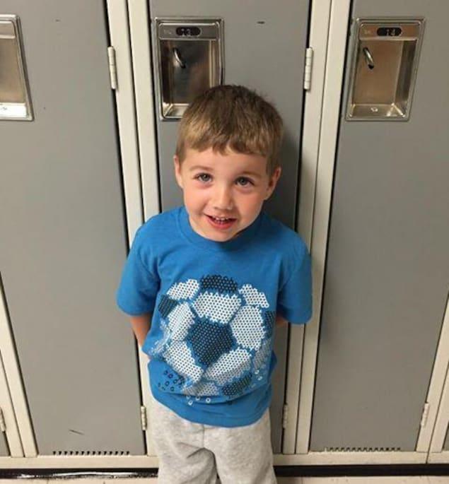 Luc Gaudet, le fils de Julien Gaudet, le directeur général de l'Association Jeunesse Fransaskoise, en prématernelle en 2017 à l'École canadienne-française de Saskatoon.