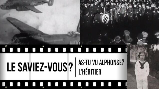 Collage de photos en noir et blanc avec un titre Le saviez-vous?