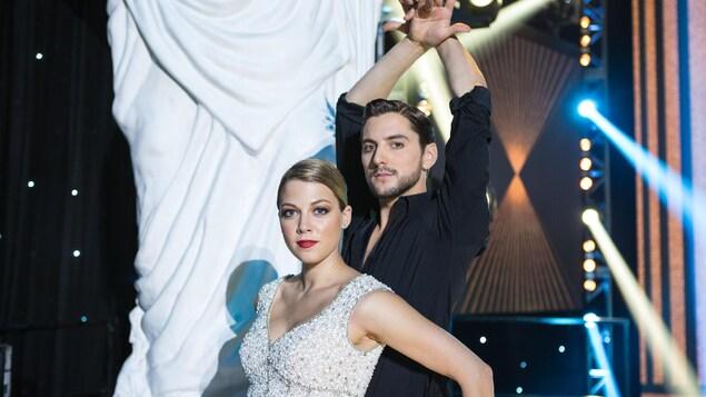 Une photo portrait de Catherine St-Laurent et de Gabriel Lemire.