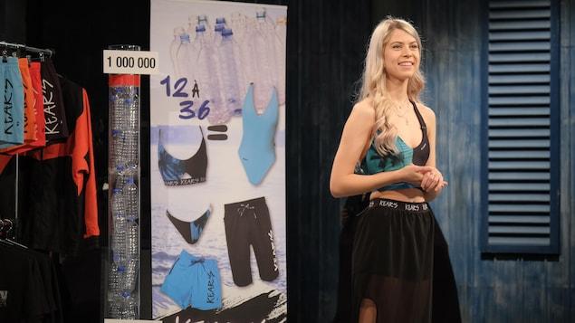Rose Guillemette propose des produits de mode fabriqués à partir de matières recyclées aux dragons.