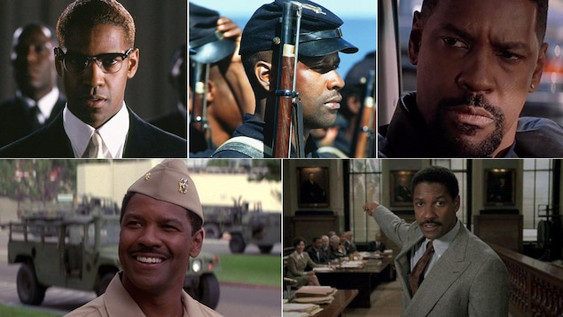 Cinq images tirées de films mettant en vedette Denzel Washington
