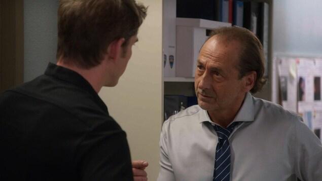 Luc Picard et Sébastien Delorme ont une conversation sérieuse