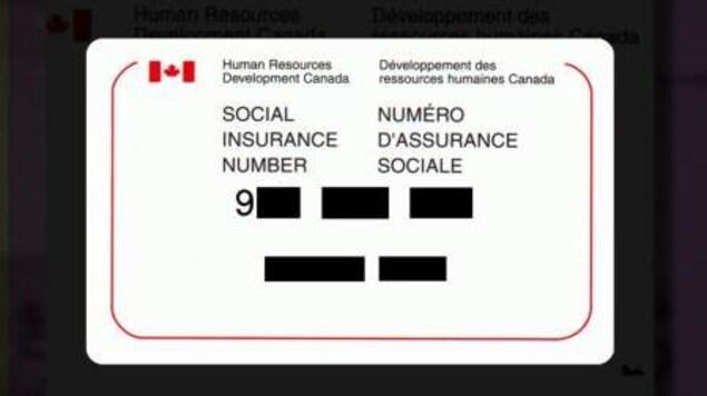 Une carte d'assurance sociale