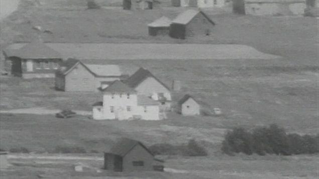 Des maisons qui se situaient sur le territoire de Forillon avant l'expropriation de centaines de gaspésiens.