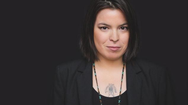 L'artiste multidisciplinaire autochtone Natasha Kanapé Fontaine.