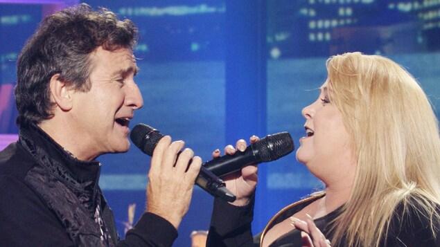 René et Nathalie Simard sont à l'émission Ici on chante!