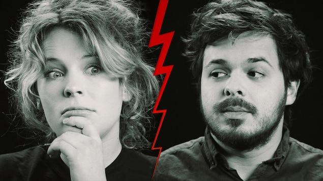 Les comédiens Charlotte Aubin et Jean-Carl Boucher