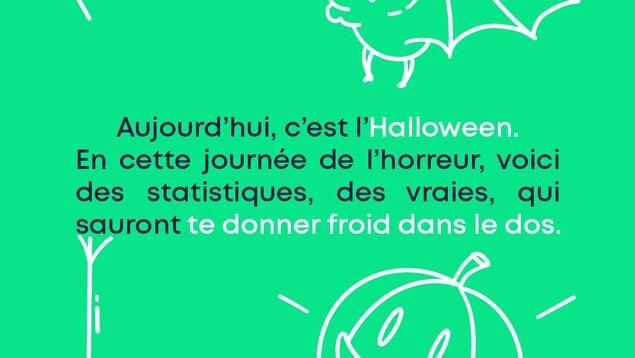 Aujourd'hui, c'est l'Halloween. En cette journée de l'horreur, voici des statistiques, des vraies, qui sauront te donner froid dans le dos.