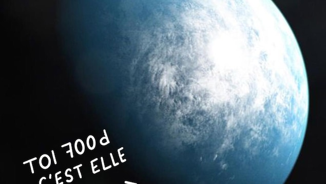TOI 700d c'est c'est elle. Photo de la planète.