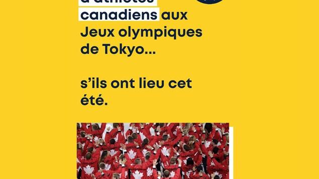 Il n'y aura pas d'athlètes canadiens aux Jeux olympiques de Tokyo... s'ils ont lieu cet été.