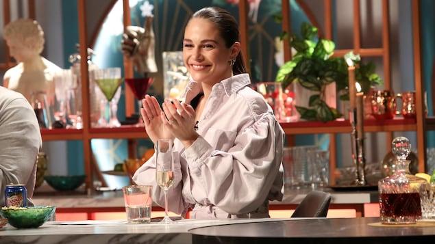 Pour une série télé, elle a participé à un concours de culturisme.