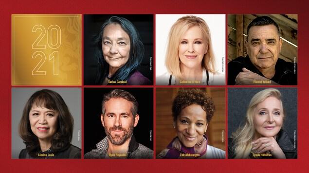 Un montage photo des 7 lauréats.