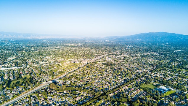 Photo par drone de la Silicon Valley.