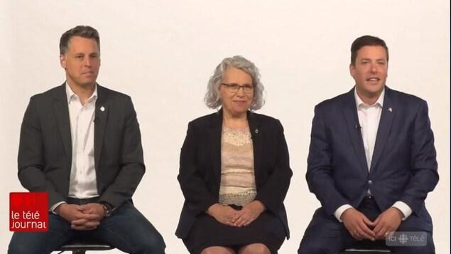 Peter Schiefke, Brigitte Sansoucy et Alupa Clarke.