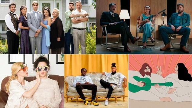 Mosaïque d'images de plusieurs émissions.