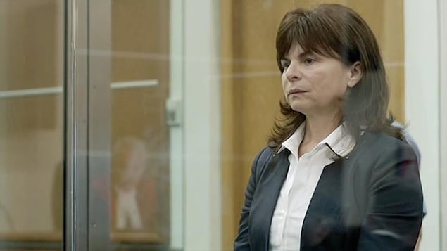 Marie Lamontagne au Palais de Justice.