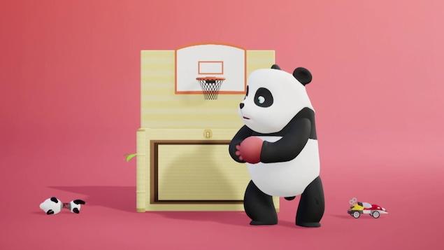 Elle joue au basket