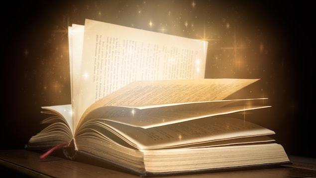 Des étoiles sortent des pages comme par magie