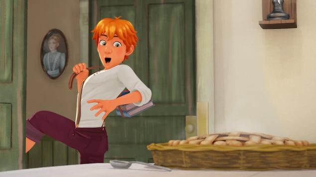 Tom Sawyer devant une tarte toute chaude