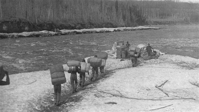 Transport de marchandises vers 1900
