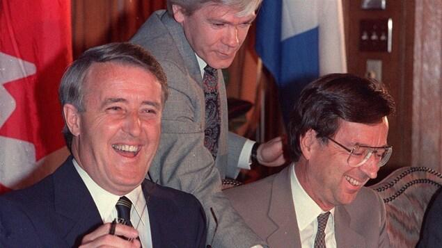 Brian Mulroney et Robert Bourassa en 1988