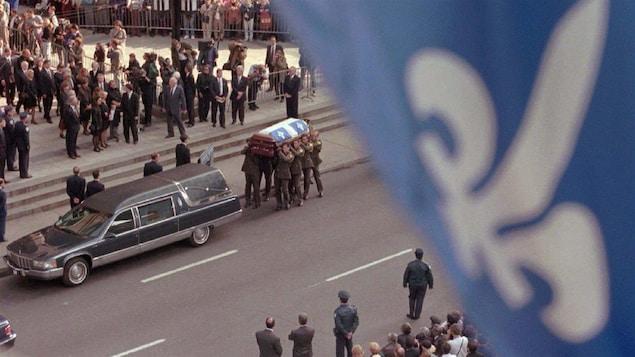 Les funérailles de Robert Bourassa en 1996