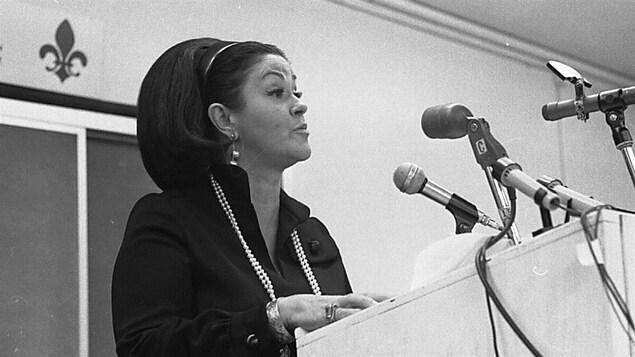 La ministre libérale Claire Kirkland-Casgrain le 1er juillet 1964