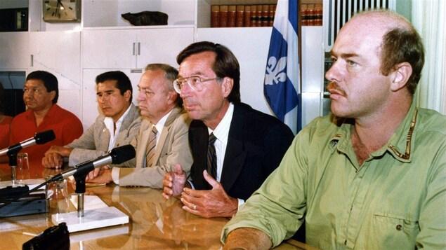 Conférence de presse pendant la crise d'Oka