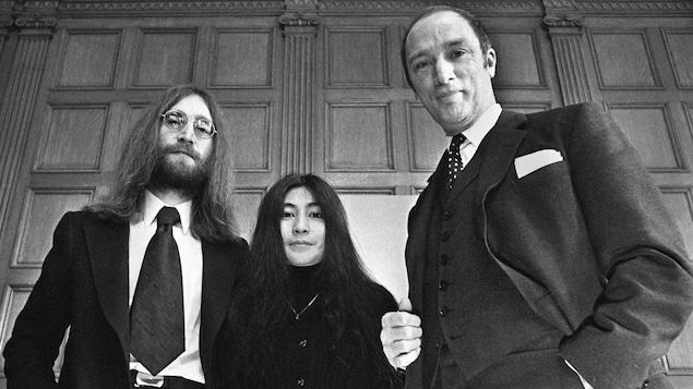 John Lennon, Yoko Ono et Pierre Elliot Trudeau se rencontrent à Ottawa en 1969.