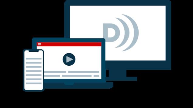 Illustration de différents terminaux en référence à l'ensemble des supports de navigation qui offrent des contenus accessibles