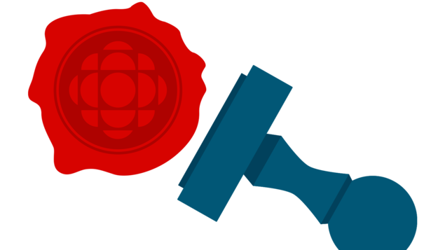 Illustration d'un sceau en cire avec le logo de Radio-Canada