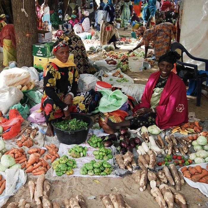 Marché extérieur au Sénégal.