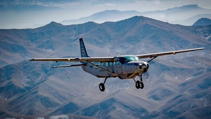 An Afghan Air Force AC-208 Eliminator used for ground attack. Known as a Cessna with a Hellfire, an aircraft like this was used by former Afghan military pilots to flee Kabul in the hours after the Taliban overthrew the democratically elected government. Those 13 aircrew are now appealing for asylum in Canada.