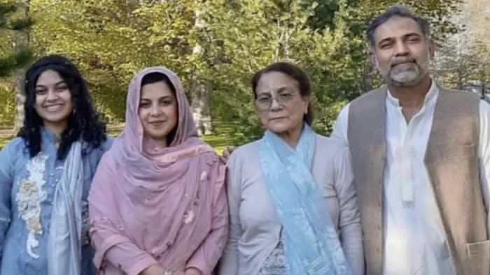 Yumna Afzaal, 15, left, Madiha Salman, 44, centre left, Talat Afzaal, 74, and Salman Afzaal, 46, right, were out for an evening walk in London, Ont., when they were run over by a man who police say was motivated by anti-Muslim hate.