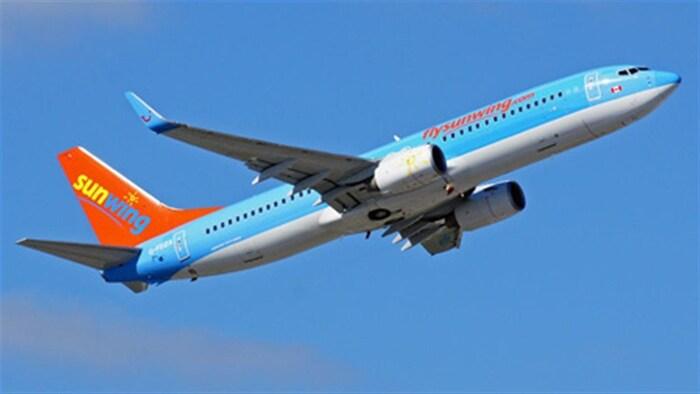 Un avión de la compañía Sunwing.