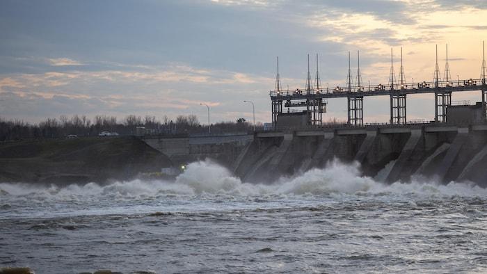 Una presa hidroeléctrica en Quebec.
