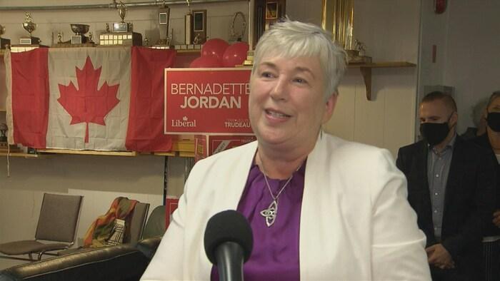 Bernadette Jordan interviewée.