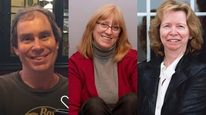 From left to right, Bruce Thomlinson, 56; Judy Booth, 57; and Anja Van Beek, 65, died in the crash on Jan. 11, 2019.