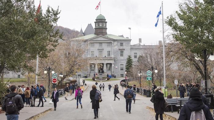 Campus de la Universidad McGill en Montreal, Canadá.