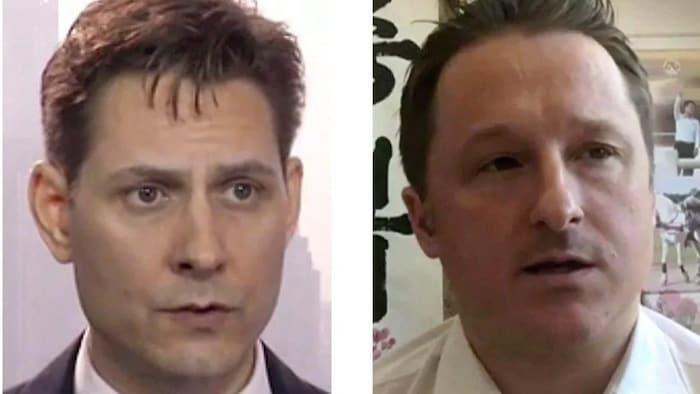 在中国被逮捕的两名加拿大人 - 康明凯 (左,Michael Kovrig)和迈克尔·斯帕沃尔(Michael Spavor)。