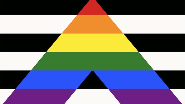 Un drapeau pour exprimer la solidarité avec les membres des communautés LGBTQ+.