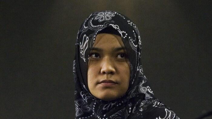 2007年4月,玉山江的太太Kamila Talendibaeva在加拿大首都渥太华,呼吁释放丈夫。