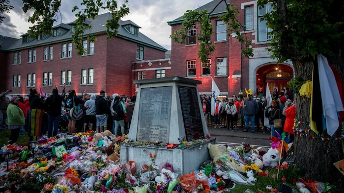 """Bains said the recent discovery of what are believed to be the remains of 215 children at a former residential school in British Columbia is a reminder of the """"long journey"""" ahead to achieve true equality and inclusiveness in Canada. Above, the former Kamloops Indian Residential School."""