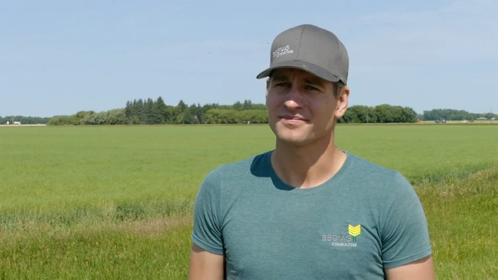 Kevin Thompson, an agronomist with 360 Ag Consulting who farms with his family near Dauphin, Man., says grasshoppers have presented a 'constant battle.'