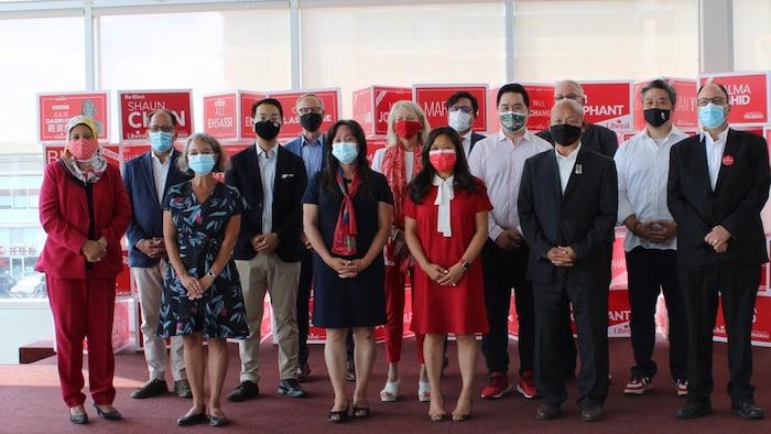 8月20日,联邦自由党华裔候选人媒体见面会。