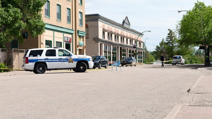 crime scene. RCMP continue to investigate in Wolseley, Sask., following Patton's death.