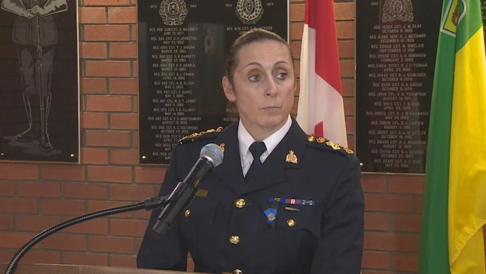 Rhonda Blackmore, Saskatchewan RCMP's commanding officer and assistant commissioner, paid tribute to Patton on Saturday.