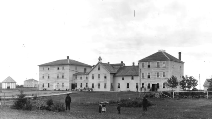 The school, also known as Thunderchild Indian Residential School, operated from 1901 to 1948 near Delmas, Sask.