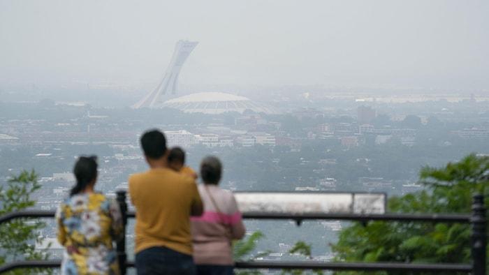 安大略省和曼尼托巴省的林火烟雾,已经飘到魁北克省,使大蒙特利尔地区连续几天雾蒙蒙。